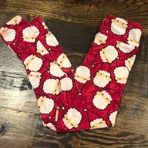 NWOT Lularoe Christmas leggings kids s/m
